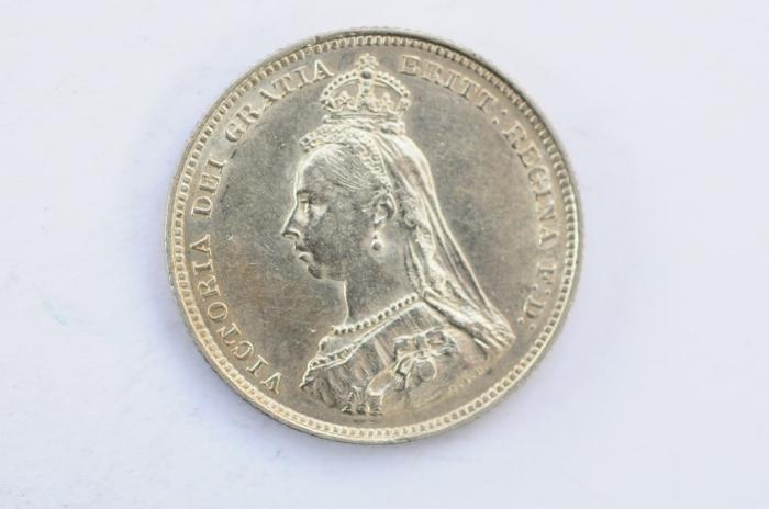 World Coins - Great Britain Silver Shilling 1887  AU