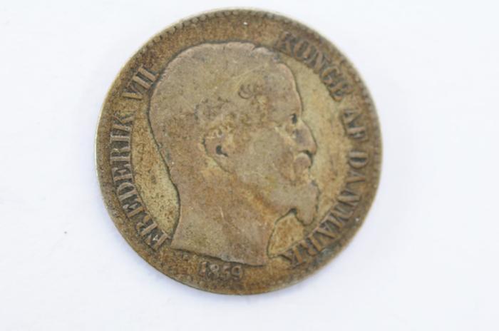 World Coins - Danish West Indies 10 Cents 1859   VF