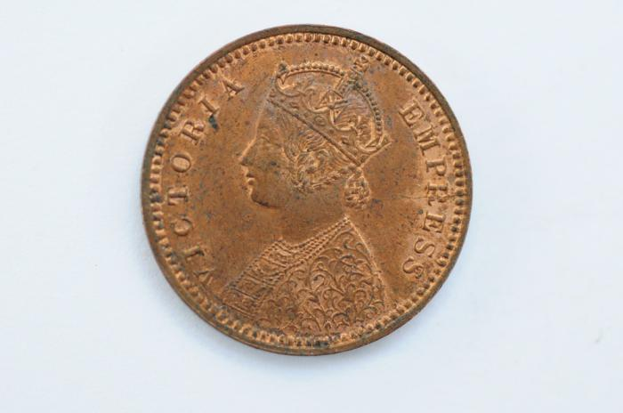 World Coins - British India 1/12 Anna 1899 (c)  UNC