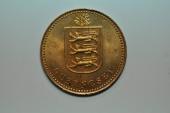 World Coins - Guernsey;  4 Doubles 1949 H   BU