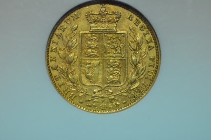 World Coins - Australia; Gold Sovereign 1878 S  NGC XF45