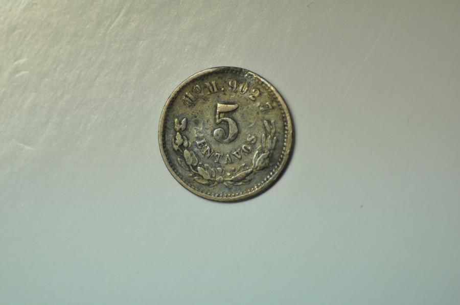 World Coins - Mexico; Silver 5 Centavos 1889 Mo M