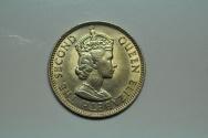 World Coins - British Honduras; 25 Cents 1965   BU
