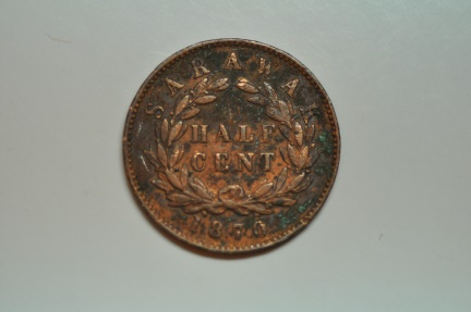 World Coins - Sarawak; 1/2 Cent 1870  VF - corosion on obvers