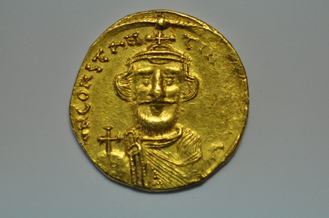 World Coins - Byzantine; Gold Solidus - Constans II -  no date 650-651 AD