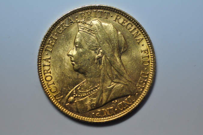 World Coins - Australia; Gold Sovereign 1897 S  UNC