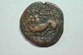 World Coins - India, Mysore; 20 Cash  1834  VF