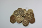 World Coins - Liberia; Cent 1937 - lot of 50 circulated coins