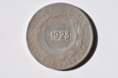World Coins - Costa Rica; Un Colon 1923 C/S on 50 Centavos 1890