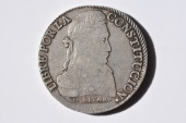World Coins - Bolivia; Silver 8 Soles 1833 PTS L VF/XF  Key Date !!!