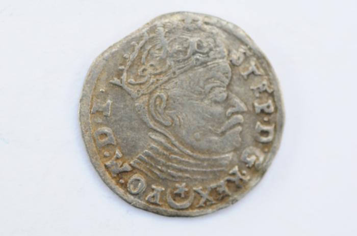 World Coins - Poland Lithuania 3 Grossus 1583  VF