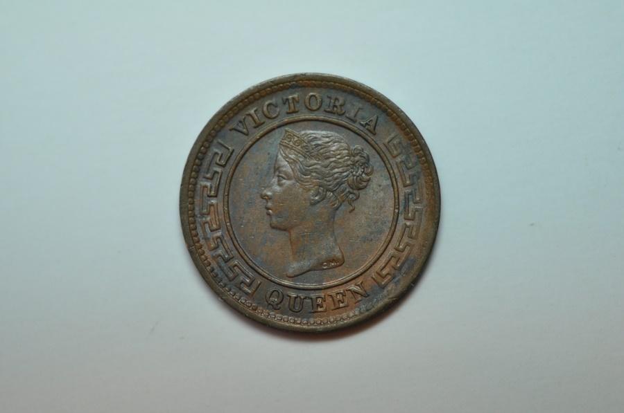 World Coins - Ceylon; Bronze 1/4 Cent 1901  BU