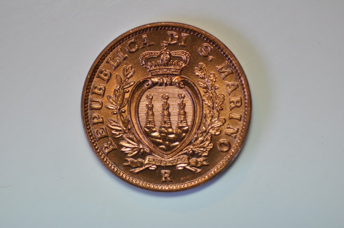 World Coins - San Marino 10 Centesimi 1938  UNC
