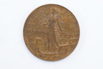 World Coins - Italy 2 Centesimi 1911 R  XF