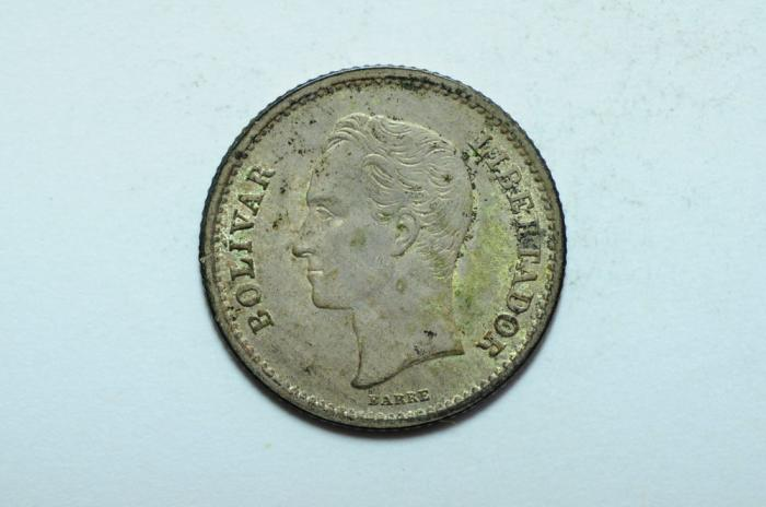 World Coins - Venezuela Silver 50 Centimos 1946  UNC