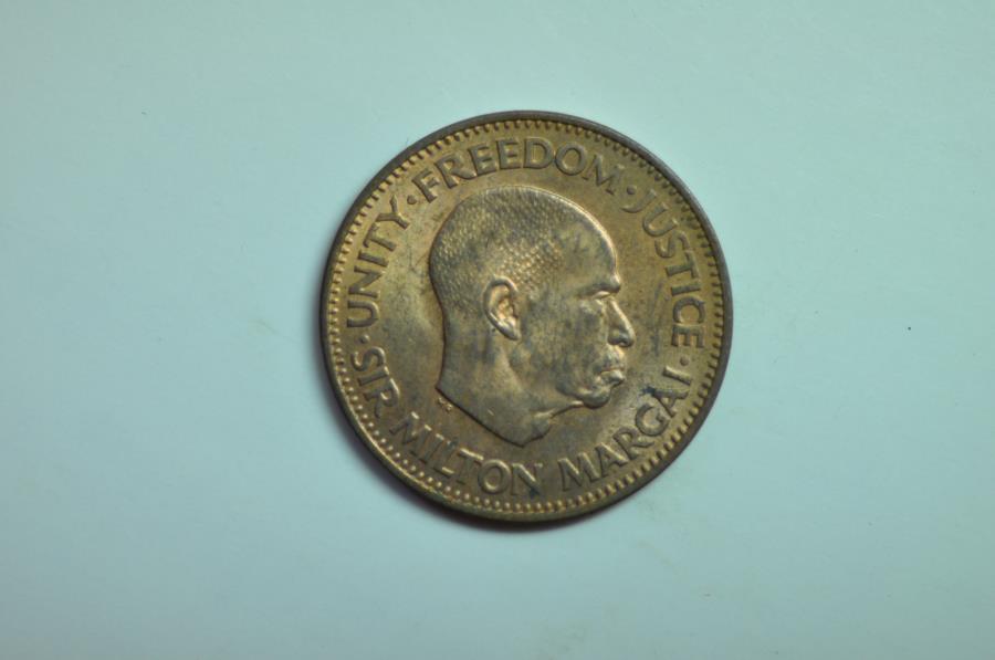 World Coins - Sierra Leone; 1/2 Cent 1964 Sir Milton Margai  BU  Scarce