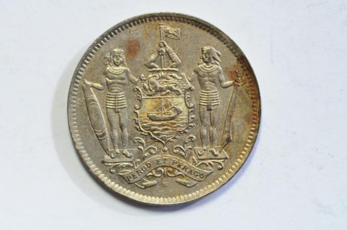 World Coins - British North Borneo 5 Cent 1941 H  AU