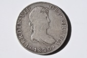 World Coins - Mexico; Silver 8 Reales 1820 Mo JJ  VF