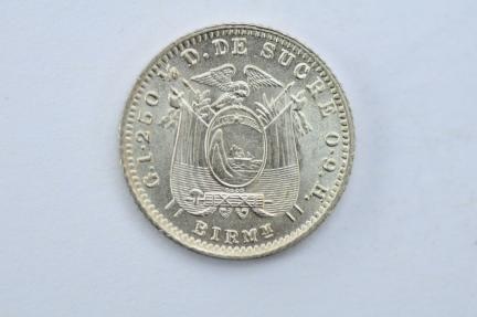 World Coins - Ecuador 1/2 Decimo 1915  Choice BU