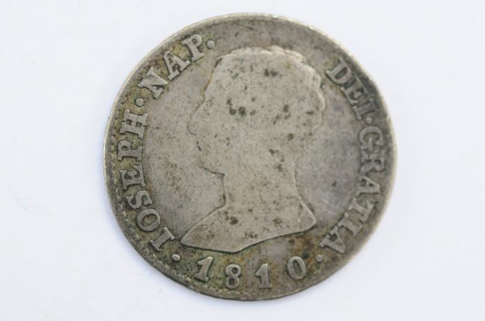 World Coins - Spain DE Vellon Coinage Silver 4 Reales 1810 AI  Fine