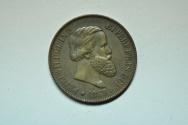 World Coins - Brazil; Bronze 20 Reis 1869  XF