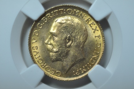 World Coins - Great Britain; Gold Sovereign -  1925    NGC MS65
