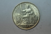 World Coins - French Indo-China; Silver 20 Centimes 1937  BU
