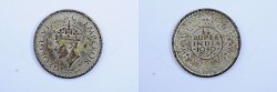 World Coins - India British Silver 1/4 Rupee 1940  AU