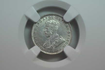 World Coins - Ceylon; Silver 10 Cents 1926  NGC UNC Details - hairlines