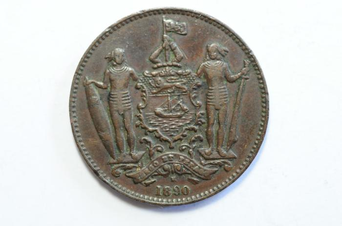 World Coins - British North Borneo Cent 1890 H  VF