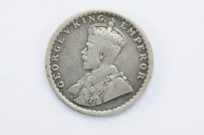 World Coins - India British 1/4 Rupee 1913 (b)  VF