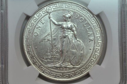 World Coins - Great Britain; Silver Trade Dollar 1925   NGC MS63