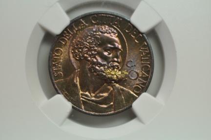 World Coins - Vatican; 10 Centesimi 1939 Anno I  NGC MS65