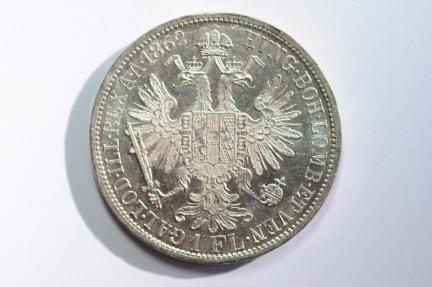 World Coins - Austria Silver Florin 1862 A  UNC