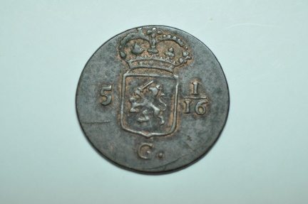 World Coins - Netherlands East Indies; Duit 1808    Red Brown Choice Unc