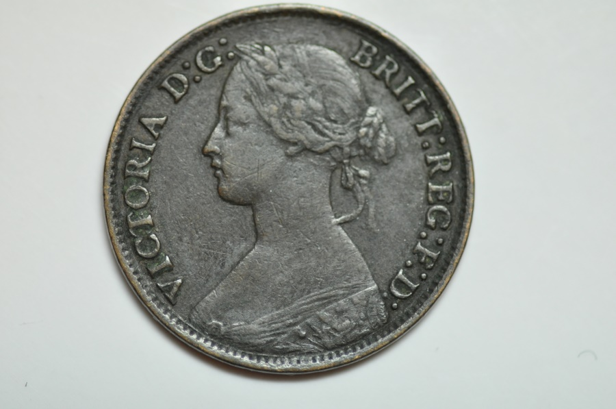 World Coins - Great Britain; Farthing  1865   VF