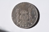 "World Coins - Mexico; Silver 8 Reales 1764 Mo MF   ""Pilar""   XF+"
