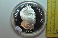 World Coins - Panama; Silver 20 Balboas 1974 (P) Subject: Simon Bolivar