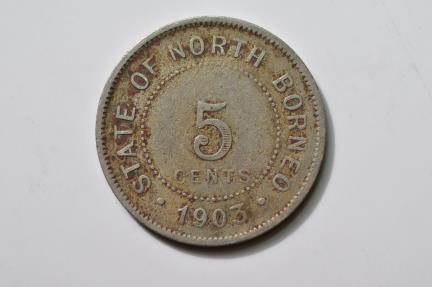 World Coins - British North Borneo; 5 Cents  1903 H