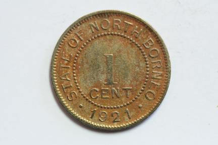 World Coins - British North Borneo Cent 1921 H  VF+
