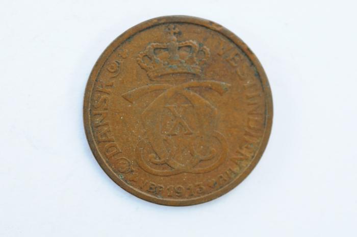 World Coins - Danish West Indies Cent - 5 Bit 1913  VF