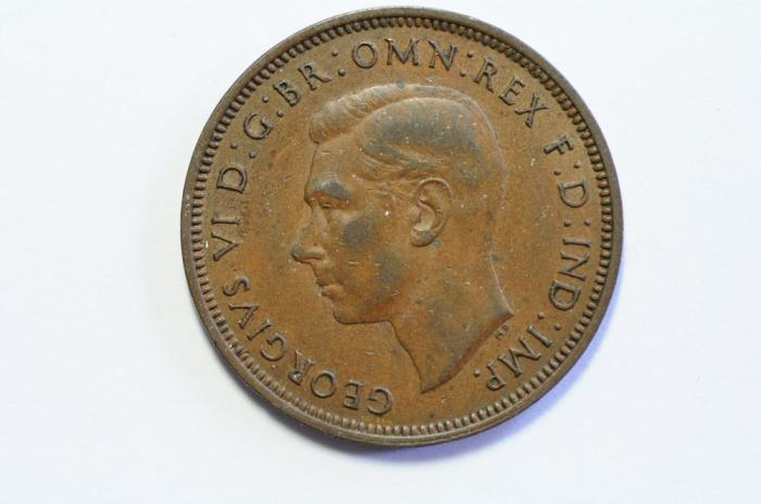 World Coins - Great Britain 1/2 Penny 1940 UNC