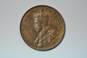 World Coins - India; 1/4 Anna 1936 toned UNC