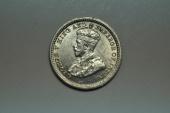 World Coins - Straits Settlements; Silver 5 Cents 1935  UNC