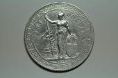 Great Britain; Silver Trade Dollar 1911 B  XF/AU