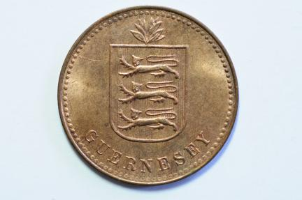 World Coins - Guernsey 4 Doubles 1945H  BU