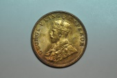 World Coins - India; 1/4 Anna 1928 (c)  George V  BU
