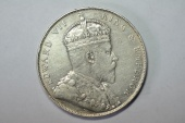 World Coins - Straits Settlements Silver Crown,  Dollar 1907 H   VF+