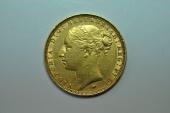 World Coins - Australia; Gold Sovereign 1887 M  - St. George -  Au/Unc