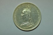 World Coins - Great Britain; Silver 3 Pence 1891  Prooflike - cleaned